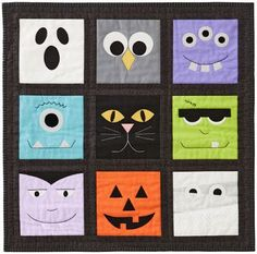 Ready for a little Halloween sewing? Used with permission from American Patchwork & Quilting® magazine. Diy Deco Halloween, Halloween Arts And Crafts, Halloween Sewing, Halloween Projects, Diy Halloween Decorations, Halloween Cards, Halloween Canvas Paintings, Halloween Painting, Halloween Quilt Patterns
