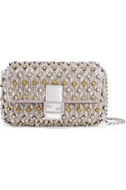 Baguette micro embellished satin-jersey shoulder bag Fendi Bags ca469c351f8d3