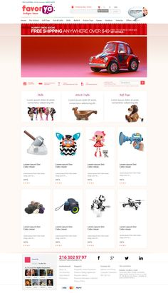 Designs Codes Custom designed Toy Store eCommerce Website Template with great discount offer!