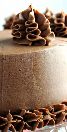 Rich Chocolate Cake, rich creamy frosting to die for!!!