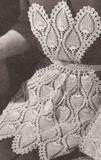 Vintage Crochet PINEAPPLE Bib TEA APRON COZY Pattern PineappleBibApron