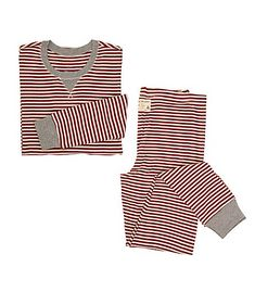 Womens Organic Candy Cane Stripe Pajama Set - Burts Bees Baby