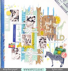 Check out this super gorgeous LO created by designer @kjstarre  She used our #september2015 kits featuring @americancrafts @amytangerine @dearlizzy @ellesstudio @shopfreckledfawn #scrapbooklayout #mixedmedia #hipkits #hipkitclub