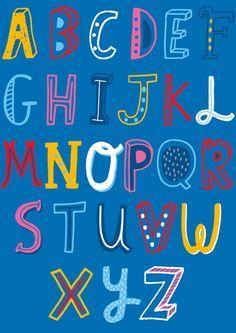 Typography Alphabet, Alphabet Print, Typography Prints, Alphabet Police, Kids Graphics, Beautiful Lettering, Creative Fonts, Typography Inspiration, Graphic Design Tutorials