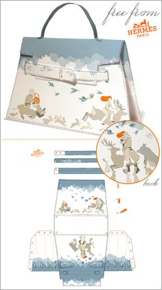 to Print, Cut & Fold Your Own DIY Hermès Handbag Freebies from Hermés - PDF saved.It is always fun to dream of ways to own a Hermes Bag.Freebies from Hermés - PDF saved.It is always fun to dream of ways to own a Hermes Bag. Diy Paper Bag, Paper Purse, Paper Crafts, Printable Box, Printables, Diy Handbag, Gift Bags, Favor Bags, Paper Dolls
