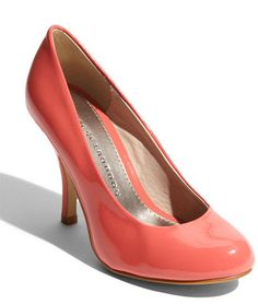 Coral patent shoes from chinese laundry- fantastic! Cute Shoes, Me Too Shoes, Pretty Shoes, Coral Shoes, Coral Orange, Coral Pink, Shoe Gallery, Bridesmaid Shoes, Patent Shoes