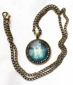 "Available in all 12 signs: - Aries - Aquarius - Cancer - Capricorn - Gemini - Leo - Libra - Pisces - Sagittarius - Scorpio - Taurus - Virgo Bronze cabochon shaped pendant comes with a 20"" long necklac"