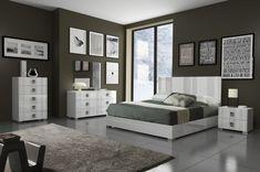 Ethan Italian Modern Grey Bedroom Set Household