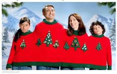 A christmas jumper that fits the whole family via Vogue Knitting