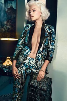 Rita Ora Is The New Face of Roberto Cavalli - Rita Ora In Roberto Cavalli Fall Campaign - Harper's BAZAAR Magazine