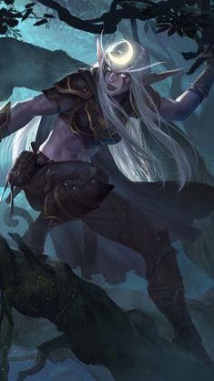 Wow Of Warcraft, Warcraft Art, World Of Warcraft Characters, Fantasy Characters, New Fantasy, Fantasy Girl, World Of Warcraft Paladin, Moon Elf, Skyrim