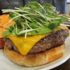 The Spicy Sprout Burger, a finalist in the #5NDreamBurger Challenge at 5 Napkin Burger