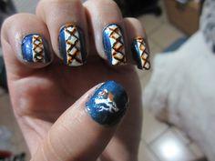 Denver broncos' nails design. Denver Broncos Nails, Denver Broncos Peyton Manning, Football Nails, Broncos Fans, Nail Polish Designs, Nails Design, Wichita State, Colorado Avalanche, Indianapolis Colts