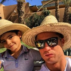 Pin for Later: 15 Times Cristiano Ronaldo and His Son, Cristiano Jr., Were Total Twins When They Wore the Same Hat Cristiano Ronaldo Junior, Cristiano Ronaldo 7, Messi, Cr7 Jr, Ronaldo Photos, Portugal National Team, Ronaldo Football, European Soccer, Fc Chelsea