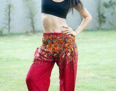 Flor impresa Aladdin Pantalones Azteca Print étnico por MaeYing