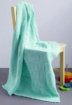 Knitted Checkers Baby Blanket (will need Size 11 [8 mm] 29-inch [75 cm] Circular Knitting Needles)