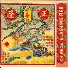 vintage firecracker labels | chinese elashing red pack label vintage pack label set 03 lion globe ...