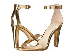 Calvin Klein Abiba Warm Gold Mirror Metallic High Heels