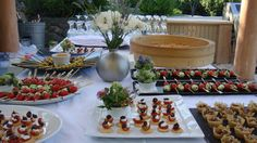 Levendis Estate, Ithaca, Ionian Islands. Champagne and canapes for a wedding on a hillside overlooking the Ionian Sea. The estate produces a bounty of fresh produce - all of which is organically grown http://www.levendisestate.com