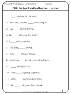set has worksheets for: -Affirmative sentences -Negative sentences ...
