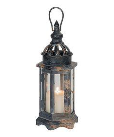 Look what I found on #zulily! Black Hexagon Lantern Candleholder #zulilyfinds