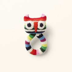 crochet toys, owl ring rattle from ANNE-CLAIRE PETIT handcrochet, organic cotton Hand Crochet, Crochet Toys, Owl Ring, Claire, Organic Cotton, Rings, Crocheted Toys, Ring, Jewelry Rings