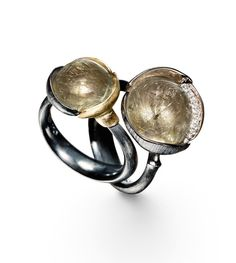 Ole Lynggaard Copenhagen: Rutile Quartz Lotus Rings