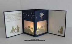 Teelichtkarte Heilige Nacht, Stampin up