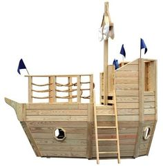 playhouse swing set plans | Baby Yacht With 10' Scoop Wave Slide and 10' Gang Plank