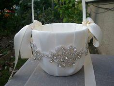 SALE  Wedding Flower Basket Flower Girl by LucyBridalBoutique