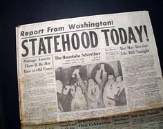 statehood day hawaii timeline