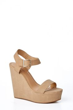 689745bad4a9a Strut In Style Nude Wedges