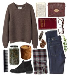 Crossed Wires by throwmeadream on Polyvore featuring La Garçonne Moderne, Paige Denim, Steven Alan, Topshop, Woolrich, Cutler and Gross, GHD, Vascolari and Vernissage