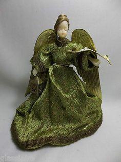 Vintage German Wax Angel Tree Topper Made By KOESTEL
