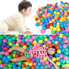 100PCS Ocean Balls Colorful Soft Plastic Balls Baby Kids Toys Swim Pit Game 7CM | Toys & Hobbies, Outdoor Toys & Structures, Sand & Water Toys | eBay!