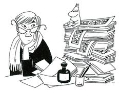Celebrating Tove Jansson on World Intellectual Property Day - Moomin Les Moomins, Moomin Books, Moomin Valley, Tove Jansson, Ligne Claire, Bd Comics, Children's Book Illustration, Childrens Books, Selfies
