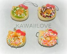 Frosted Donut With Bow Squishy Frost Donuts, Squishies, Indie Brands, Things I Want, Kawaii, Kitty, Bows, Style, Little Kitty
