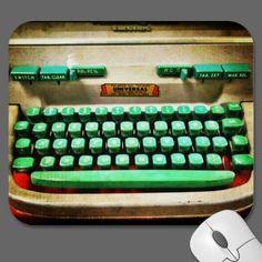 Vintage Retro Typewriter Mouse Pad by iGoiPhonePhotography