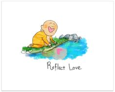 "* Buddha Doodles ""Love"""