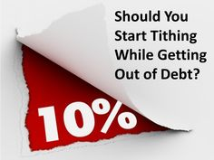 Should you start tithing while getting out of debt? A few questions to ask yourself if you're thinking about becoming a tither while paying off debt. Marriage Advice, Love And Marriage, Money Tips, Money Saving Tips, Financial Peace, Finance Blog, Get Out Of Debt, Frugal Tips, Money Matters