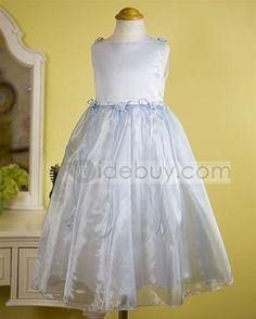 Amazing Round-Neck A-line Tea-Length Appliques Flower Girl Dress