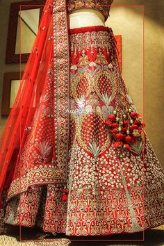 End to End Customization with Hand Embroidery & beautiful Zardosi Art by Expert & Experienced Artist That reflect in Blouse , Lehenga & Sarees Designer creativity that will sunshine You & your Party Worldwide Delivery. Wedding Lehnga, Indian Wedding Gowns, Indian Bridal Outfits, Indian Bridal Lehenga, Indian Bridal Wear, Indian Dresses, Indian Wear, Wedding Dresses, Bridal Elegance