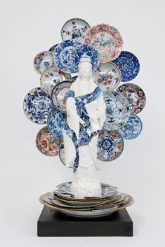 Using Shattered Ceramics, Artist Bouke de Vries Revitalizes Found Porcelain in New Sculptures   Colossal Classic Bowls, Composition, Colossal Art, Guanyin, Kintsugi, Modern Ceramics, Ceramic Artists, Art Fair, Contemporary Art