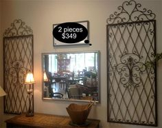 Accent your large entry or formal living space with these rustic iron wall pieces.    Yesterdays Treasures Consignment  5829 Lone Tree Way Suite J   Antioch  925 - 233 - 4547  www.Yesterdayststore.com  Info@yesterdayststore.com