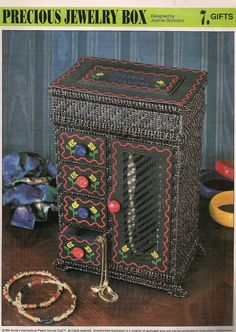 Precious Jewlery Box Plastic Canvas by needlecraftsupershop, $4.50
