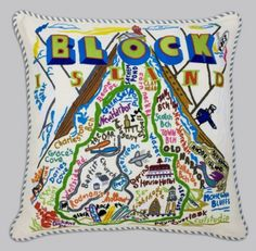Hunt Yachts supports Rhode Island made products: Block Island Pillow