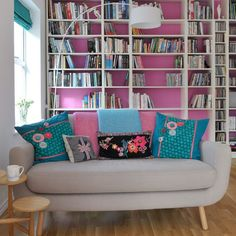Painted-shelving--10-of-the-best-colourful-living-room-ideas--PHOTOGALLERY--Style-at-Home--Housetohome Painted-shelving--10-of-the-best-colourful-living-room-ideas--PHOTOGALLERY--Style-at-Home--Housetohome