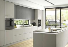 A top tip when thinking about a kitchen renovation - make sure to have a solid p. - A top tip when thinking about a kitchen renovation – make sure to have a solid plan to ensure you - Modern Grey Kitchen, Grey Kitchen Designs, Luxury Kitchen Design, Kitchen Room Design, Kitchen Cabinet Design, Kitchen Layout, Home Decor Kitchen, Interior Design Kitchen, Home Kitchens