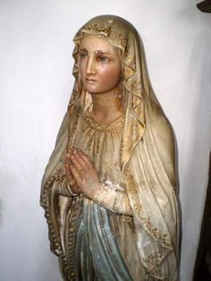 STUNNING Huge Antique French beautiful genuine Religious Statue Virgin Mary 4ft | eBay
