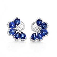 Moira Fan Earrings with Diamond